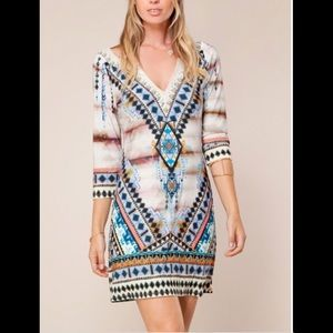 HALE BOB Lenora Hand Beaded Taupe Dress 5LWA6919